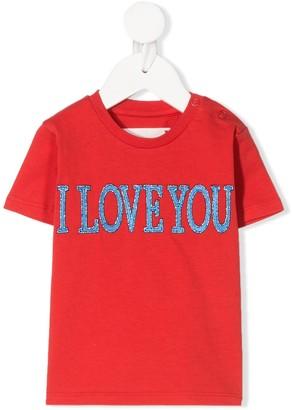 Alberta Ferretti Kids embroidered slogan T-shirt