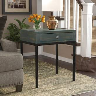 Beachcrest Home Joanna Solid Wood End Table with Storage
