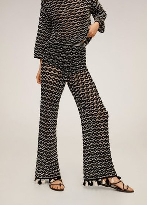 MANGO Crochet trousers black - S - Women