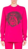 Givenchy Rottweiler-Print Crewneck Long-Sleeve Cotton Sweatshirt