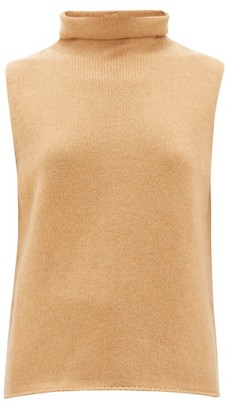 The Row Beriko Sleeveless Roll-neck Cashmere Sweater - Womens - Camel