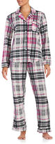 DKNY Printed Fleece Pajama Set