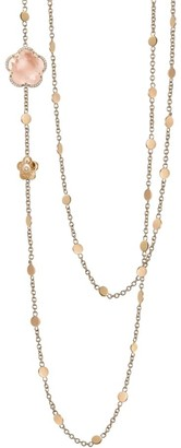 Pasquale Bruni Bon Ton 18K Rose Gold, Rose Quartz & Diamond Chain Necklace