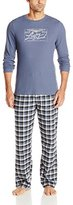Lucky Brand Men's Long-Sleeve Thermal and Flannel Pant Sleep Set