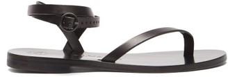 Álvaro González Arubina Wraparound Leather Sandals - Black