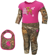 Carhartt Camo & Pink 'Forest Friends' Realtree Xtra® Bodysuit Set - Infant
