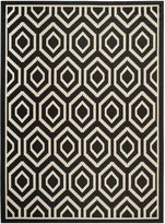 Safavieh Courtyard Collection CY6902-266 Black and Beige Indoor/Outdoor Area Rug, 8-Feet by 11-Feet