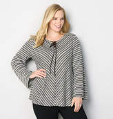 Avenue Mitered Tie Up Swing Sweater