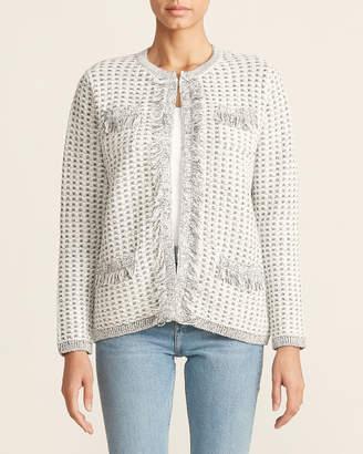 Calvin Klein Tweed Long Sleeve Sweater Jacket