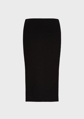 Emporio Armani Links-Knit Chevron, Midi Tube Skirt