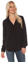 Bella Dahl L/S Button Back Shirt in Black