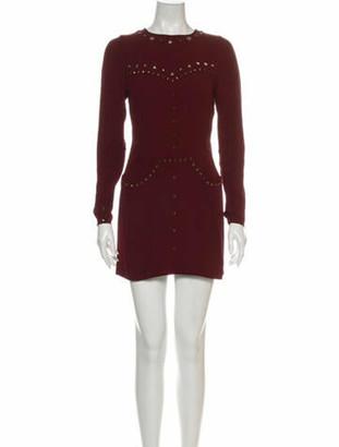 Isabel Marant Crew Neck Mini Dress Red