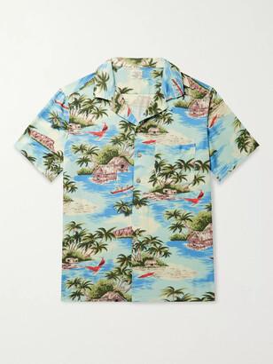Faherty Kona Camp-Collar Printed Woven Shirt