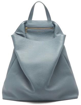 Tsatsas Fluke Grained-leather Tote Bag - Light Blue