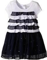 Ikks Dress with Ruffled Top & Chiffon Skirt with Rhinestones (Infant/Toddler)