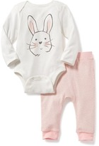 Old Navy Bunny Bodysuit & Pants Set for Baby
