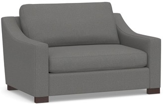 Pottery Barn Turner Slope Arm Upholstered Twin Sleeper Sofa with Memory Foam Mattress