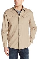 Wrangler Authentics Mens Long Sleeve Flannel Lined Twill Shirt