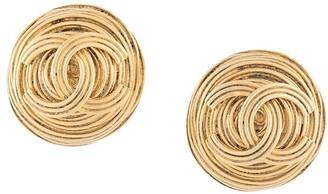 1994 CC button earrings