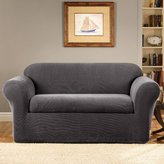 Sure Fit Stretch Metro 2-Piece - Loveseat Slipcover - Gray (SF39412)