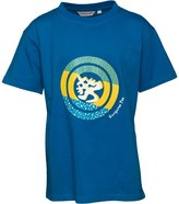 Kangaroo Poo Boys Circular Chest Print T-Shirt Royal