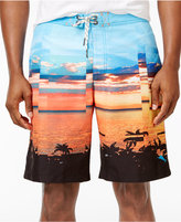 Tommy Bahama Men's Baja Pixel Scenic-Print Sun Protection 30 Swim Trunks