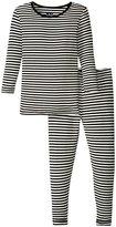 Kickee Pants Pajama Set (Toddler/Kid) - Midnight/Natural Stripe - 3T