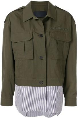 Juun.J Shirt Cargo Jacket