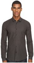The Kooples Fitted Fancy Dandelion Shirt Men's Long Sleeve Button Up