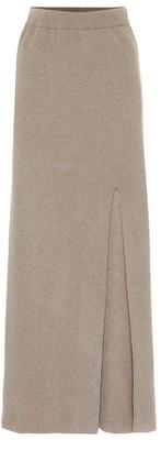 Nanushka Paak cashmere-blend maxi skirt