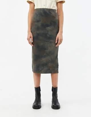 Our Legacy Rib Tube Skirt Olive Tie Dye Rib