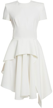 Alexander McQueen Tiered Ruffle Fit-&-Flare Dress