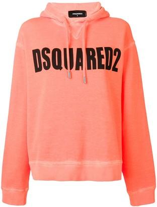 DSQUARED2 Logo Print Hoodie