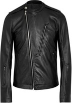 Rick Owens Black Leather Biker Jacket