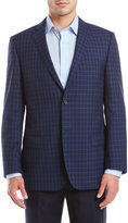 Zanetti Navy Check Wool Sport Coat