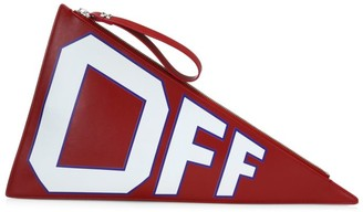 Off-White Off White Leather Logo Flag Clutch