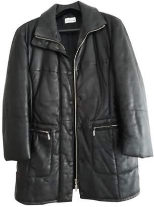 Cerruti Black Leather Coats