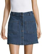 Vero Moda Denim Button-Front Skirt