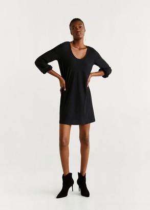 MANGO Back bow dress black - 2 - Women