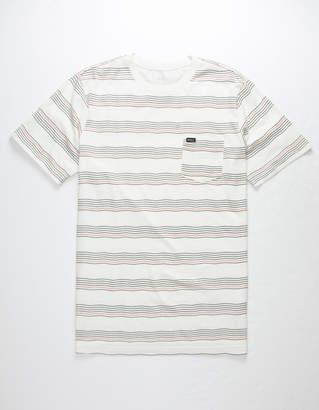 RVCA Wavy Stripe Mens Pocket T-Shirt