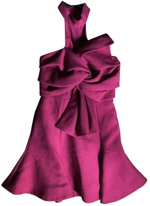 C/Meo Burgundy Polyester Dresses