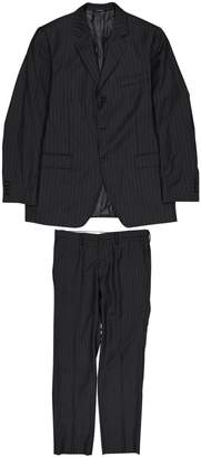 Dolce & Gabbana Black Wool Suits