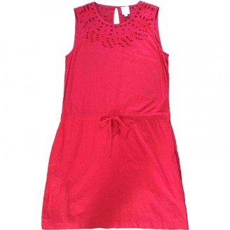 Petite Mendigote Red Cotton Dress for Women