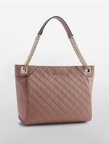 Calvin Klein Leather Quilted Tote