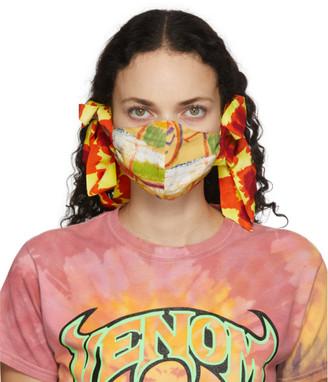 Collina Strada SSENSE Exclusive Multicolor Floral Bow Face Mask