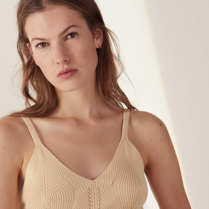Sandro Short knit vest top