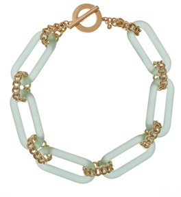 Christian Siriano New York Chiristian Siriano New York Gold Tone and Lucite Link Collar Necklace