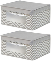 InterDesign Axis Medium Storage Boxes (Set of 2)