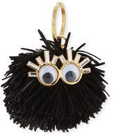 Sophie Hulme Leonard Pompom Key Ring, Black
