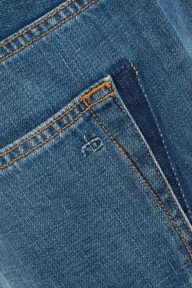 Rag & Bone Distressed High-rise Straight-leg Jeans